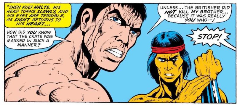 The Hands of Shang-Chi Master of Kung Fu - issue 68 Sample Art