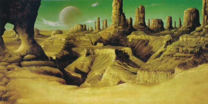 Dan Dare pre-production artwork by Jim Burns, featured in his art anthology 'Lightship' (1985)