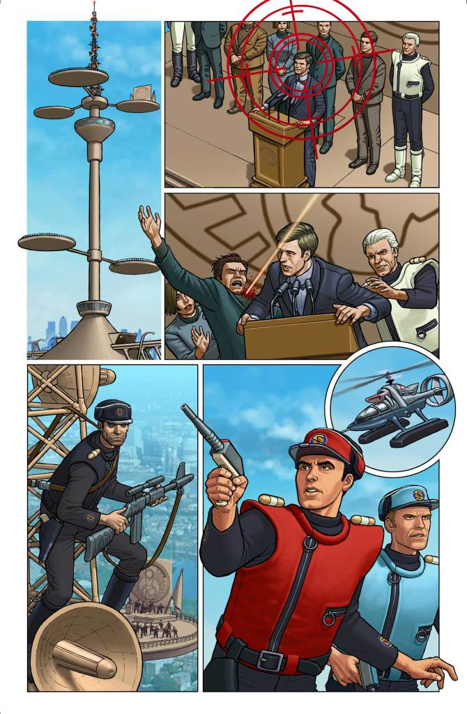 Captain Scarlet and the Mysterons 4 Limited Edition Blu-Ray set - comic art by Paul McCaffrey