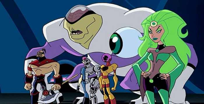 The Fatal Five as they appeared in the Legion of Super Heroes animated series and an episode of Justice League Unlimited.