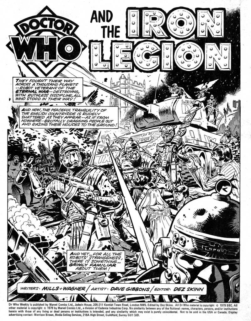 "The opening page of ""The Iron Legion"" from Doctor Who Weekly Issue One, published in 1979"