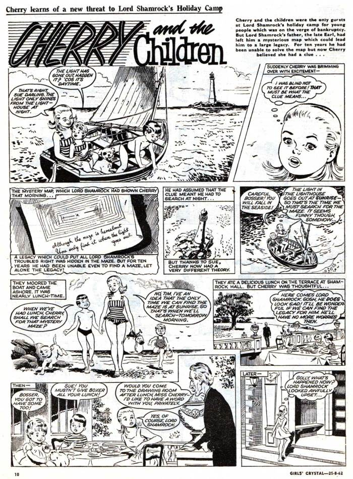 Girl's Crystal cover dated 25th August 1962 - Cherry and the Children page One