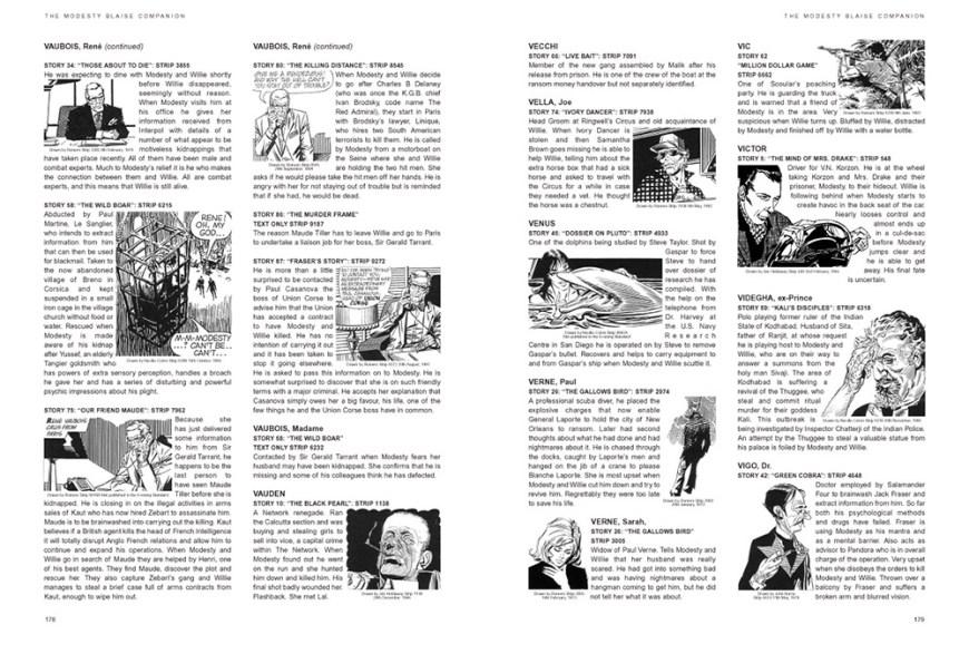 The Modesty Blaise Companion Expanded Edition - Sample Soread