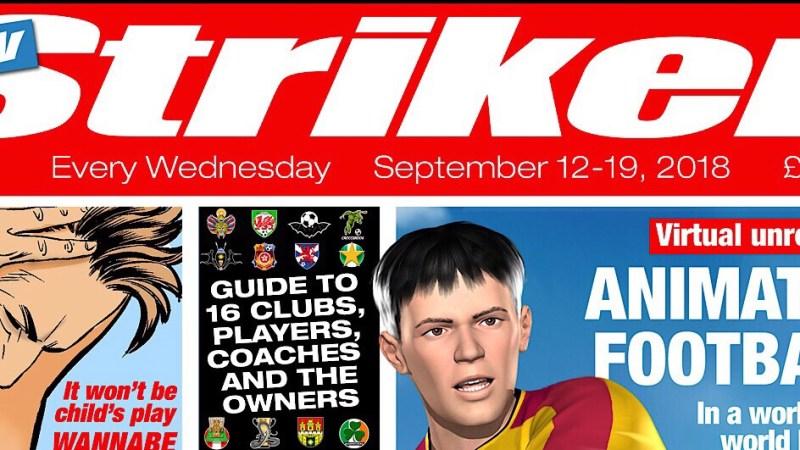 Sneak Peek: the new Striker comic magazine, launching in high street newsagents this week