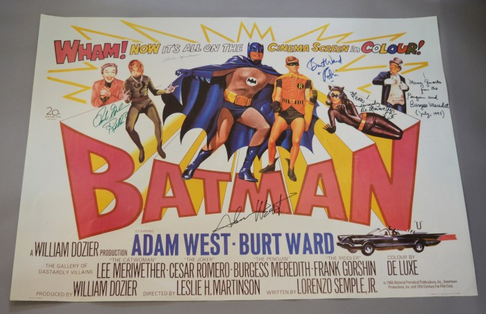 Signed Batman Film Poster