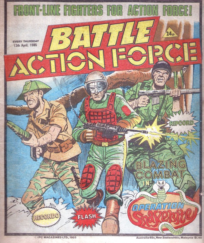 Battle Action Force - cover dated 13th April 1985