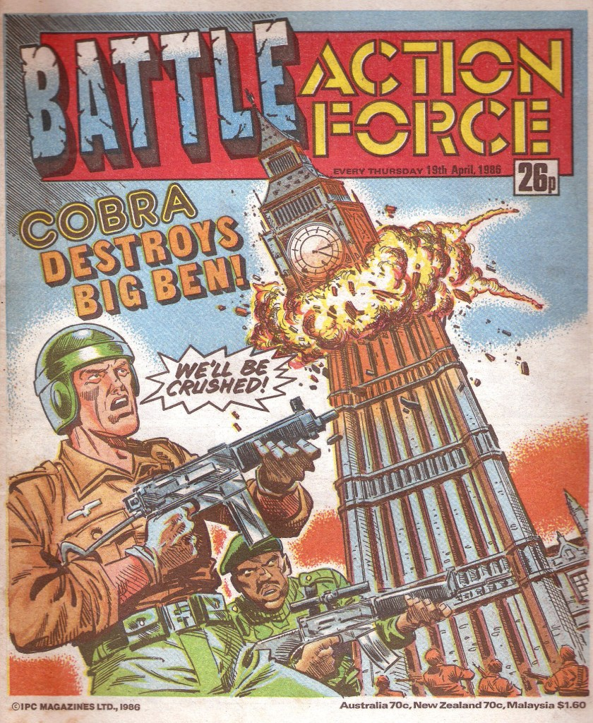 Battle Action Force - cover dated 19th April 1986