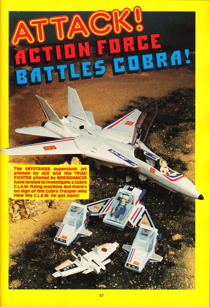 An Action Force photo feature from the IPC-published 1987 Battle Action Force annual