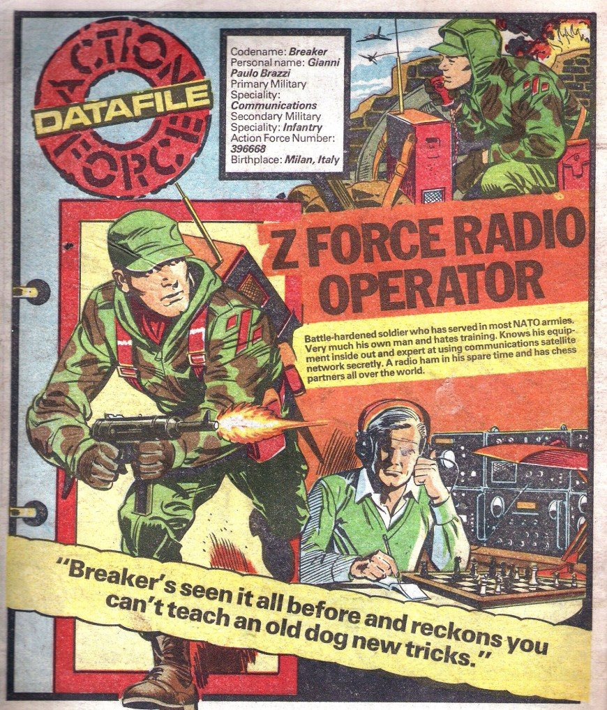 One of the many popular Action Force Data Files