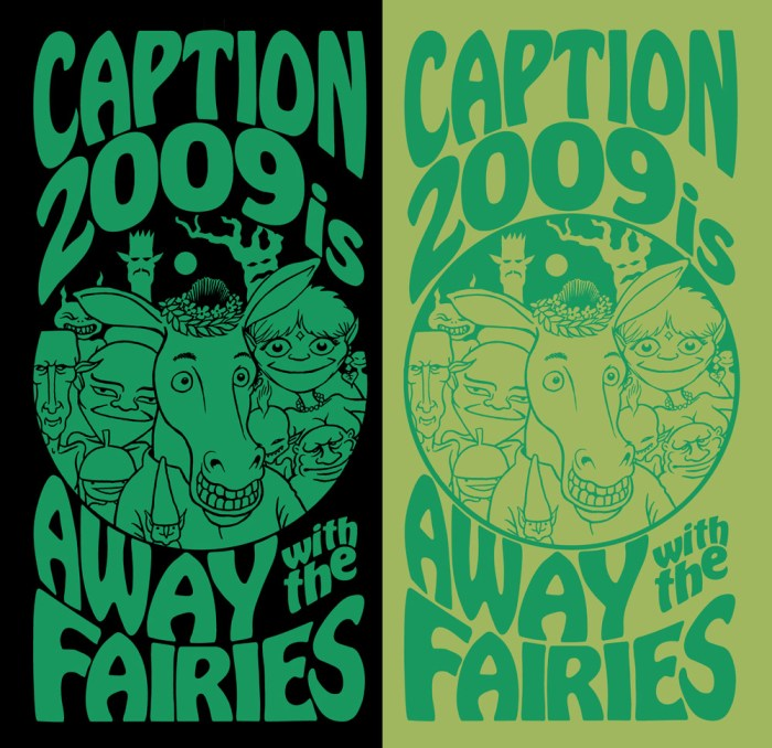 Caption 2009 Tshirt Design by Terry Wiley