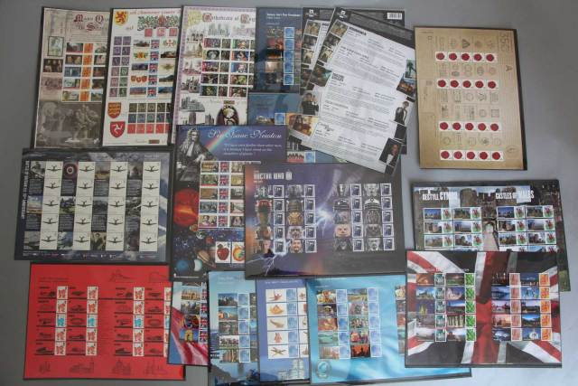Doctor Who stamps are included in on lot offered