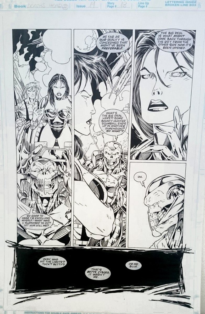Death's Head II #19 - Unpublished Art