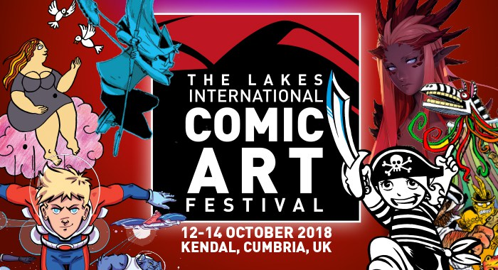Lakes International Comic Art Festival - September 2018 Banner