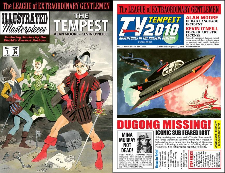 The League of Extraordinary Gentlemen: The Tempest #1 and #2