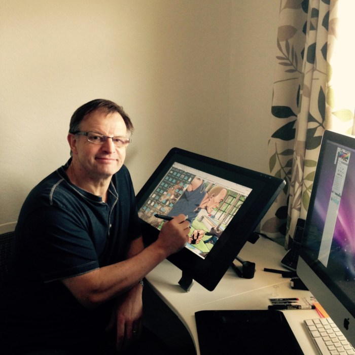 Veteran British comic artist Martin Griffiths has been prised from his studio for this year's Malta Comic Con