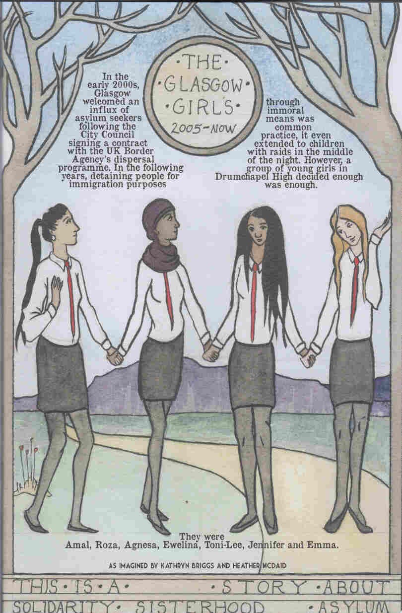 """""""The Glasgow Girls"""" by Kathryn Briggs and Heather McDaid, from the We Shall Fight Until We Win anthology, published BHP Comics/404 Ink"""