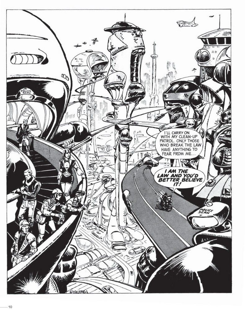 One of Carlos Ezquerra's original visualisations for what would become Mega City One. © Rebellion