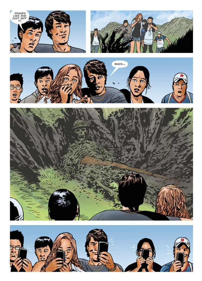 """""""Without a trace..."""" by Robbie Morrison & Charlie Adlard"""