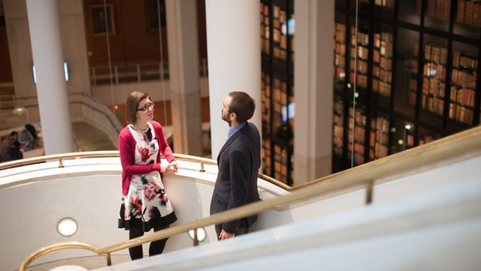 CDP students at the British Library. Image courtesy British Library