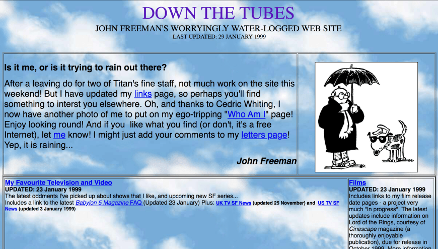 The early days of downthetubes