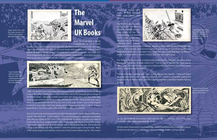 """Dave Hunt recalls his work for Marvel UK in """"Dave Hunt: An Artist's Life"""""""