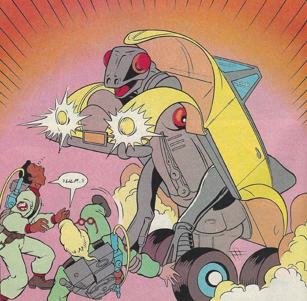 "Art from ""Invasion of the Buggy Snatchers"", which appeared in The Real Ghostbusters Issue 152, written by Dan Abnett"