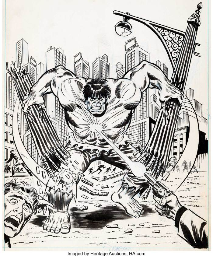 Cover art for the Marvel Annual 1975 published by World Distributors in the UK. Adapted from style guide art, fans have generally identified this as a Herb Trimpe, inked by Frank Giacoia, but there is no paperwork to confirm this. Artist David Roach suggests a Ron Wilson/Frank Giacoia pairing.