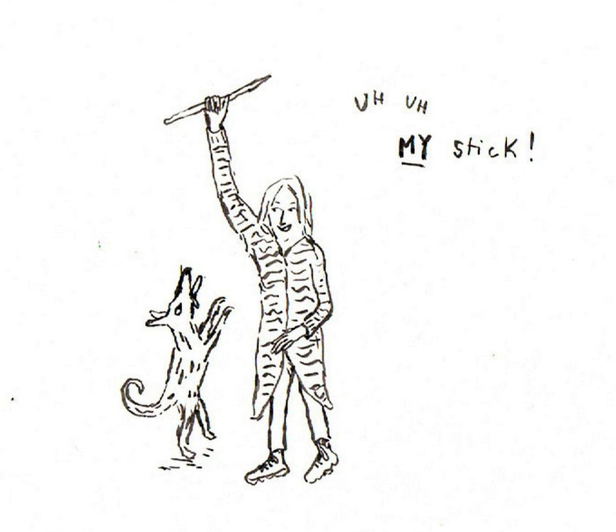 Ottilie Hainsworth ‏- Talking with Gina - My Stick