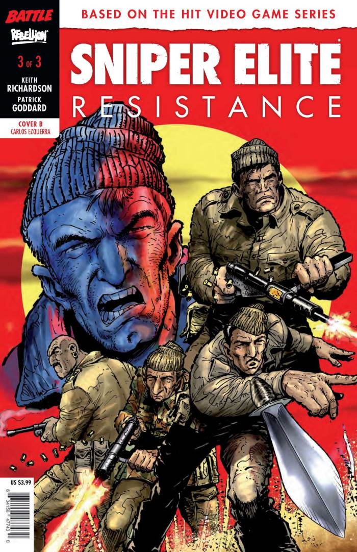 Sniper Elite - Resistance #3 - Variant Cover by Carlos Ezquerra