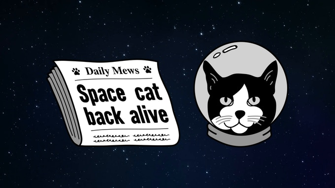 Félicette - The First Cat in Space Badge Set