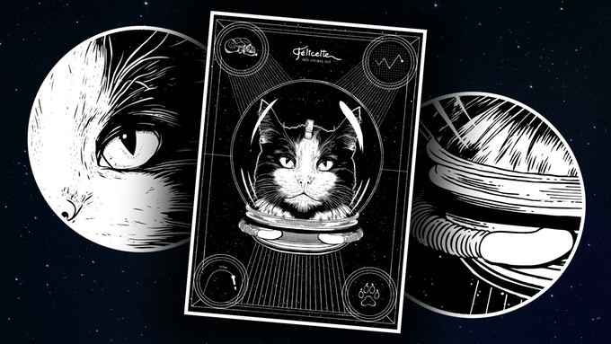Félicette - The First Cat in Space Print
