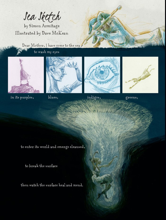 """Sea Sketch - Memorial"" by Simon Armitage & Dave McKean"