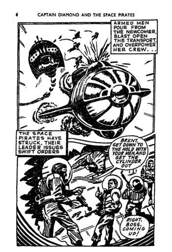 "A page from Tit-Bits Science Fiction Comics #4 - ""Captain Diamond and The Space Pirates"""