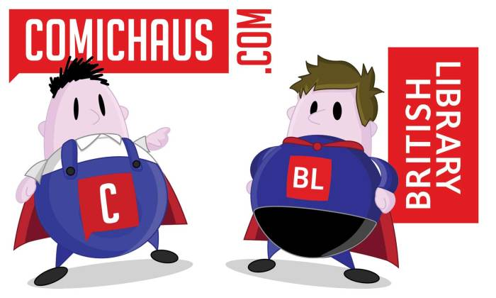 Comichaus - British Library Team Up Banner