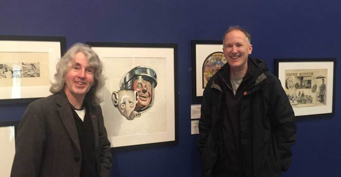 Frank Hampson Exhibition - The Atkinson 2018 - Tim Quinn and Richard Sheaf