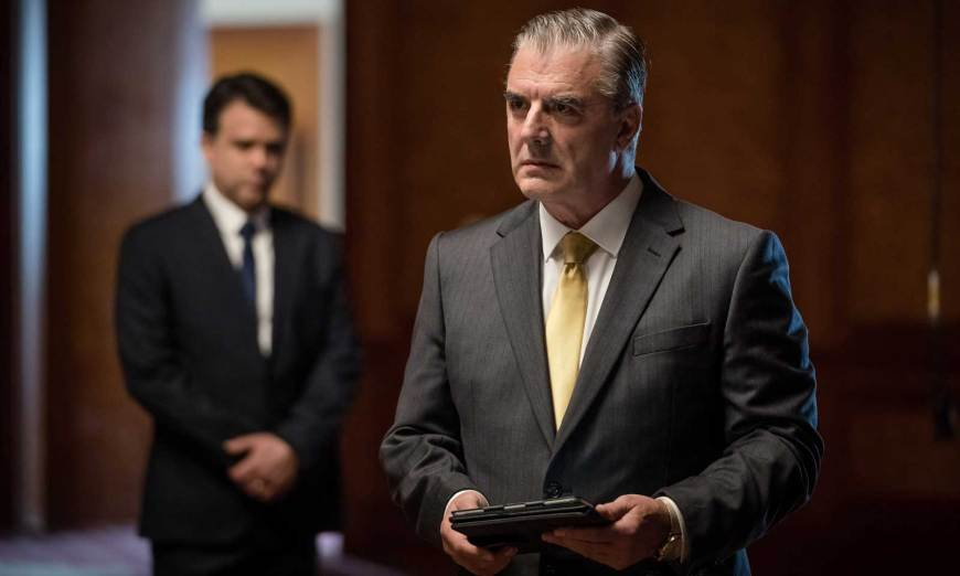 Chris Noth as businessman Jack Robertson in Arachnids in the UK. Image © BBC/BBC Studios