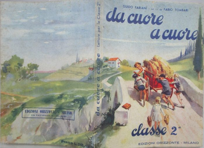 "The cover of ""From Heart to Heart"" by Guido Fabiani, art by Giorgio De Gaspari, published by Horizon Publishing House Milan in 1948"