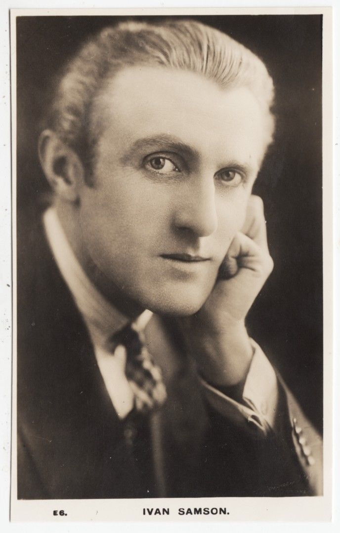 An autographed publicity still of actor Ivan Samson in the 1930s. Via eBay