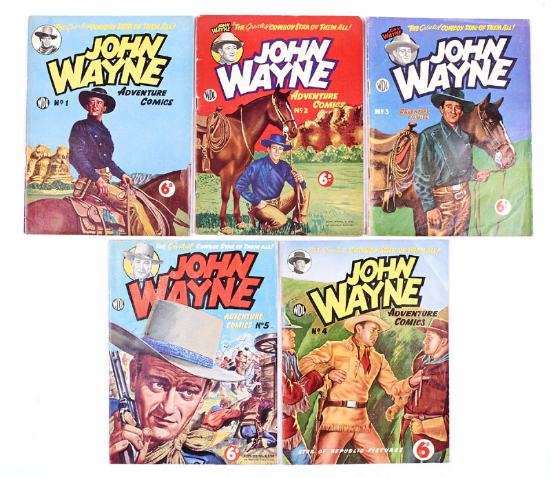 John Wayne Adventure Comics 1-5 (WDL 1950s)