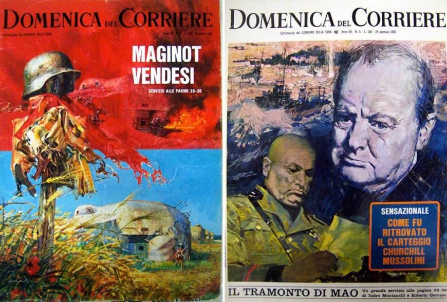 La Domenica del Corriere covers by Giorgio de Gaspari
