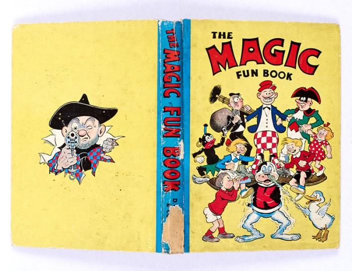 Magic Fun Book 2 (1942). Koko supports his Magic characters on the cover.