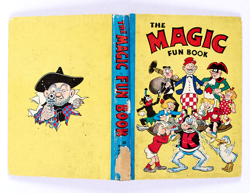 Magic Fun Book 2 (1942). Koko supports his Magic characters on the cover.
