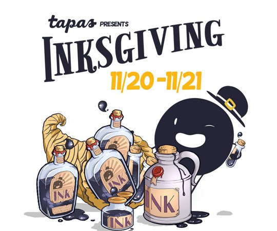 Inksgiving – Tapas Comics annual campaign to support creators – returns tomorrow