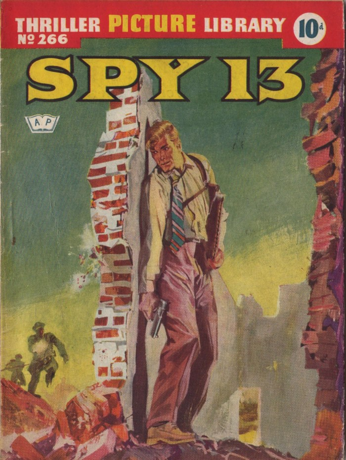 "Giorgio de Gaspari's cover for Thrilling Picture Library 266, a ""Spy 13"" story"