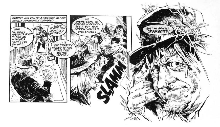 "Mike drew the majority of Look-In's ""Worzel Gummidge"" strips, bringing his flair for action and portraiture to Scatterbrook's unruly scarecrow. The artist was generous enough to share his memories of Worzel for ""The Worzel Book"", by Stuart Manning, back in 2016, and was, the publishers say ""enthusiastic and incredibly modest about his work""."