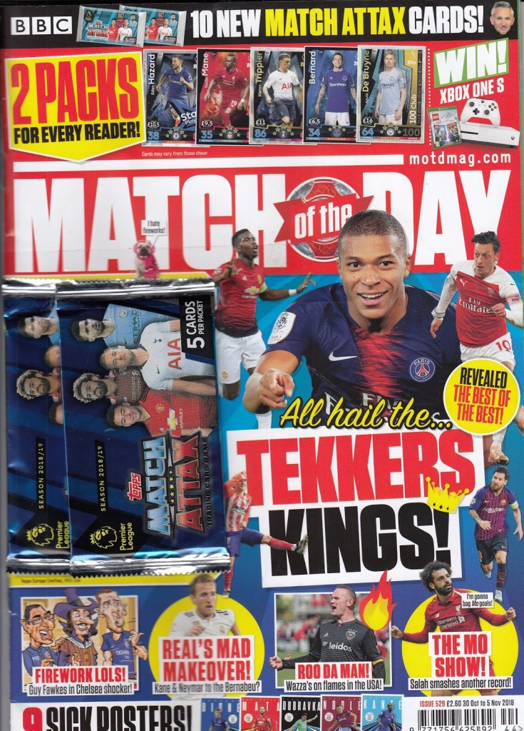 Match of the Day magazine (Issue 529 - cover dated 30th October - 5th November 2018)