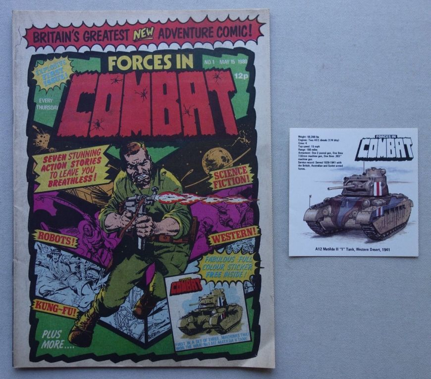 Marvel UK's Forces in Combat issue 1 cover dated 15th May 1980