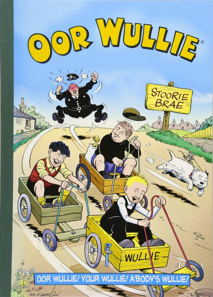 The 2019 Oor Wullie book with cover art by Ken Harrison