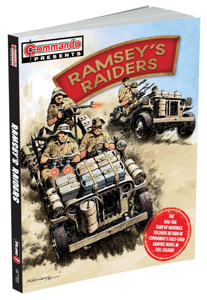 Commando Presents: Ramsey's Raiders Volume 1 with cover art by Ian Kennedy