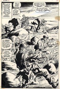 Sgt. Fury #81 Splash Page pencilled by by Dick Ayers and inked by John Severin